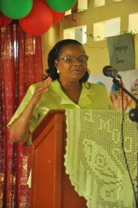 Hon. Volda Lawrence addressing the Regional Conference